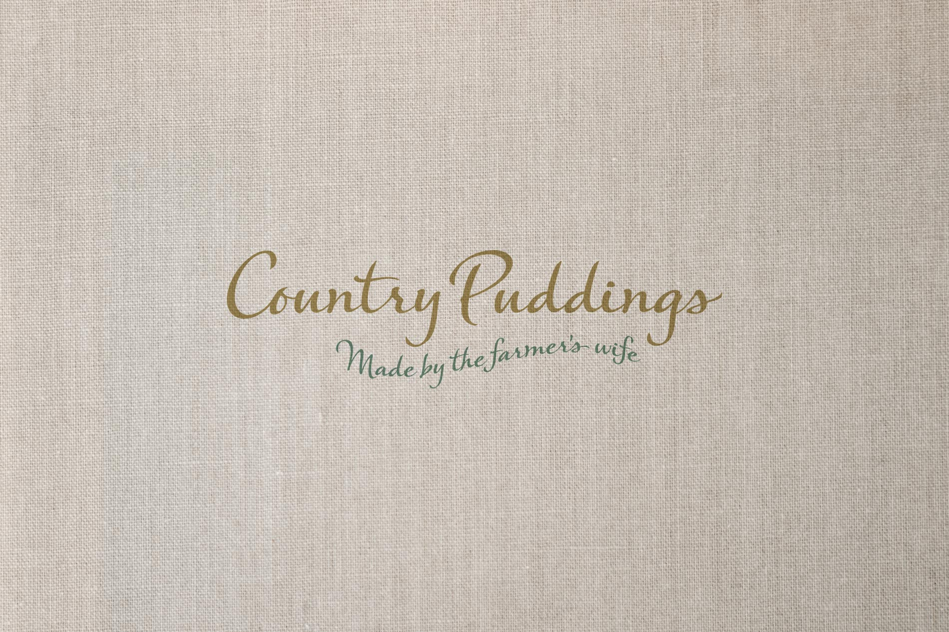 Country Puddings Logo, branding and packaging design