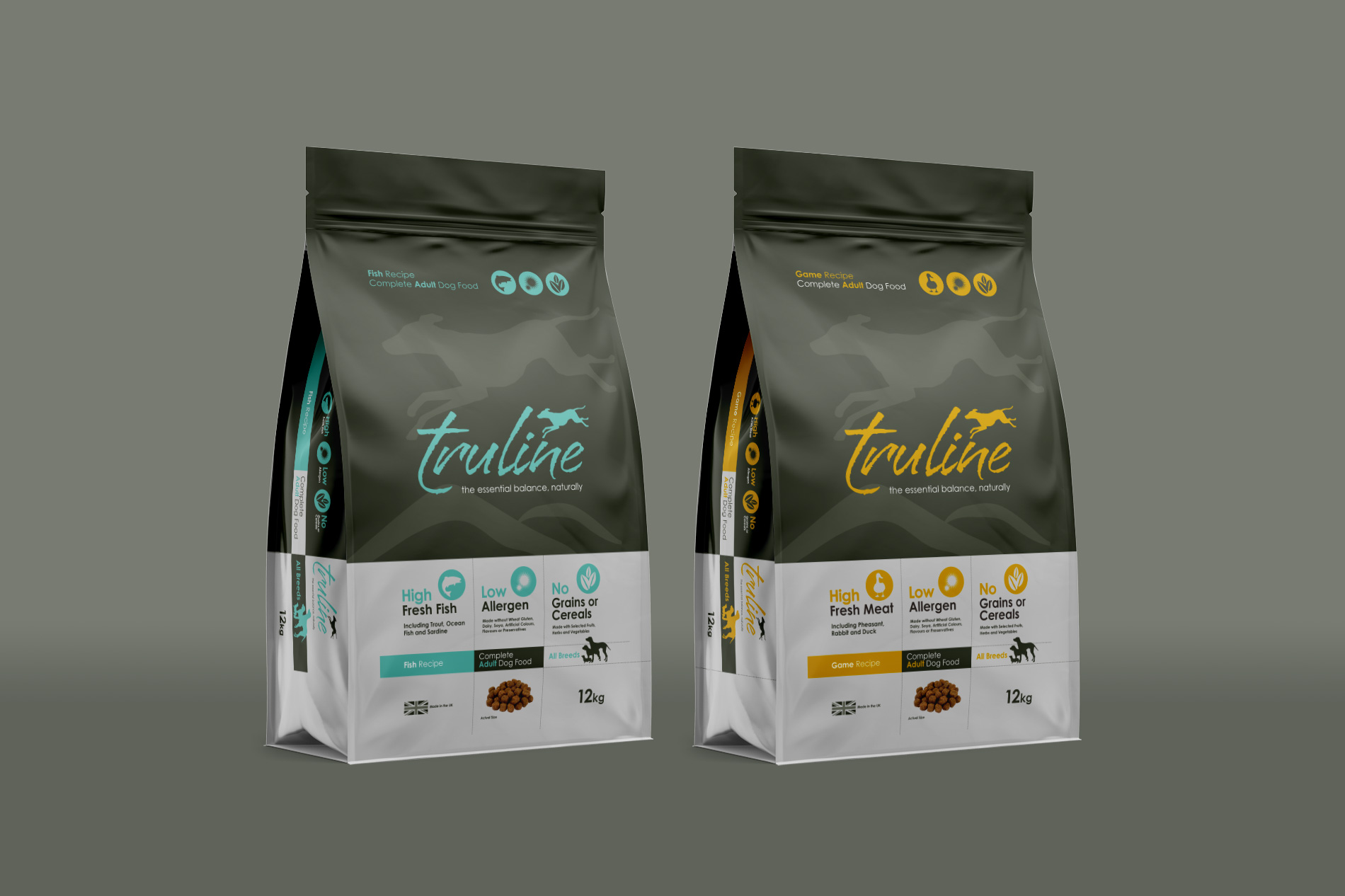 Branding & Packaging design for Truline, Pero Pet Foods