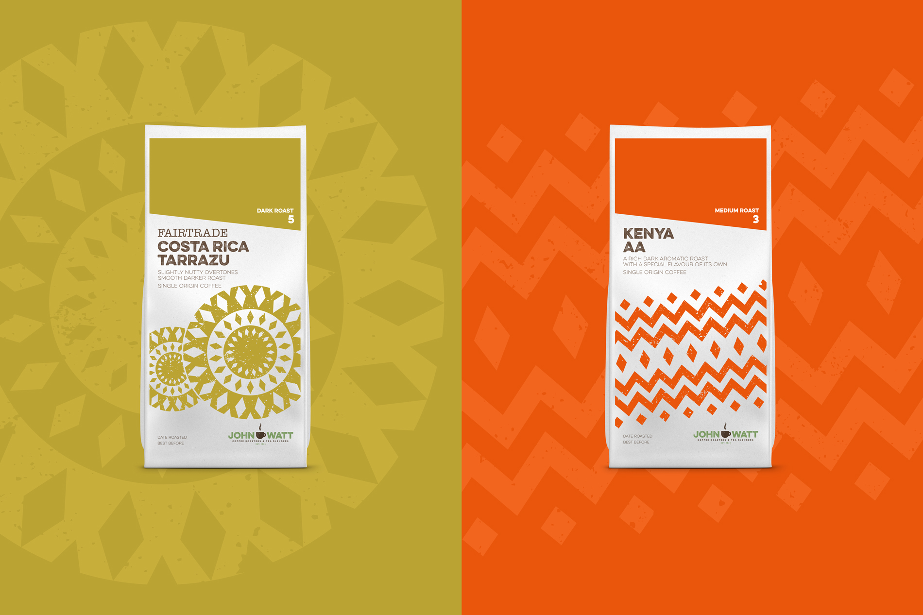 John Watt & Son - Coffee Bag Design