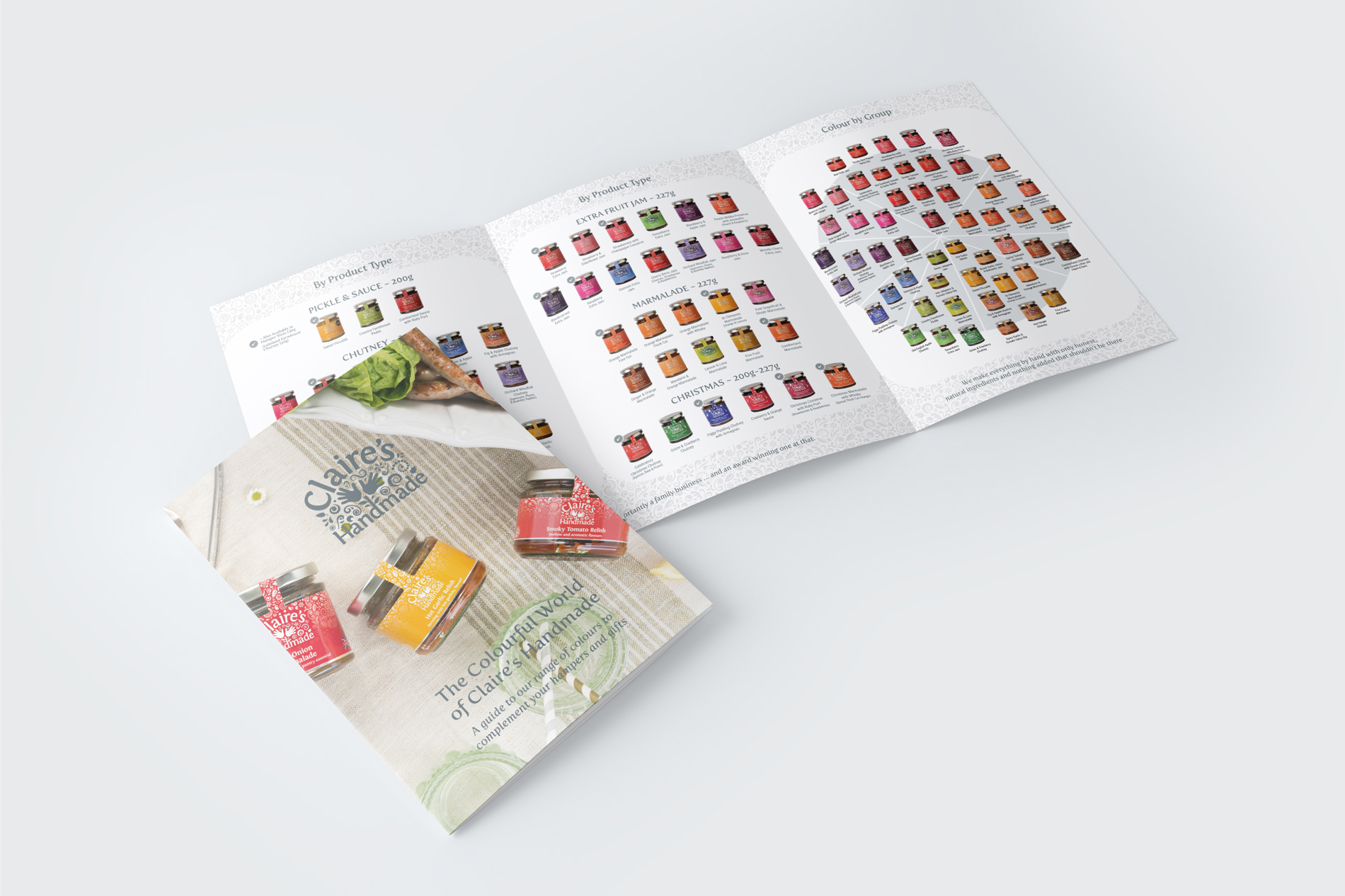 Claire's Handmade Product Range Colour Chart Design
