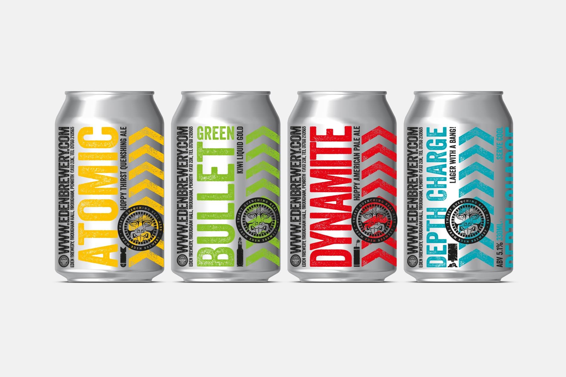 Eden Brewery Beer Can design
